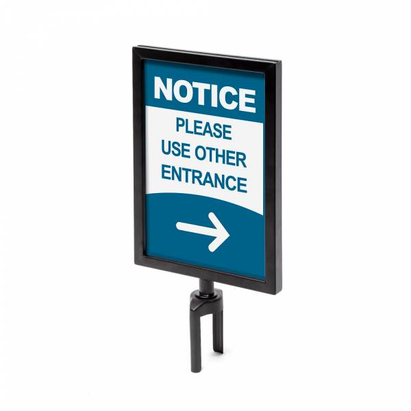 Barrier sign holders
