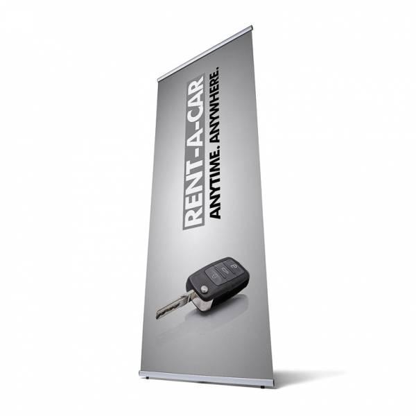 Banner Display mit Tasche 80x200 cm
