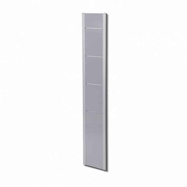 Wandprospektregal, weiß/silber