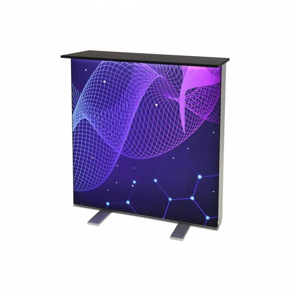 Promotiontheke Lightbox Schwarze Tischplatte
