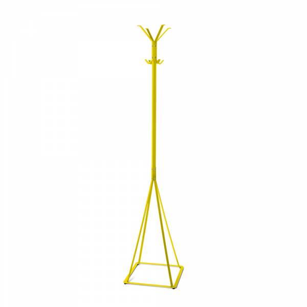 Garderobe Freistehend Klassisch grau/gelb