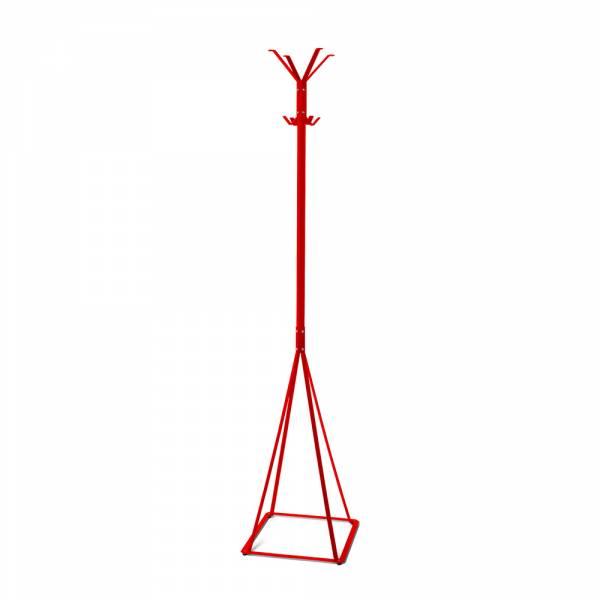 Garderobe Freistehend Klassisch grau/rot