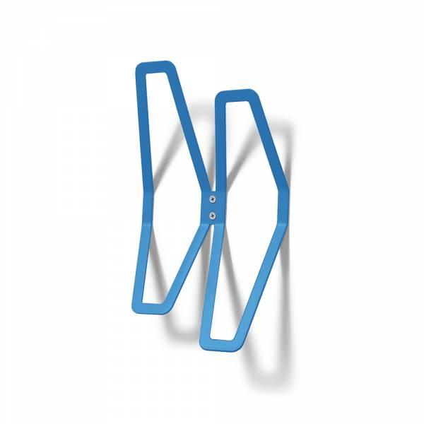 Garderobe Design Wand blau