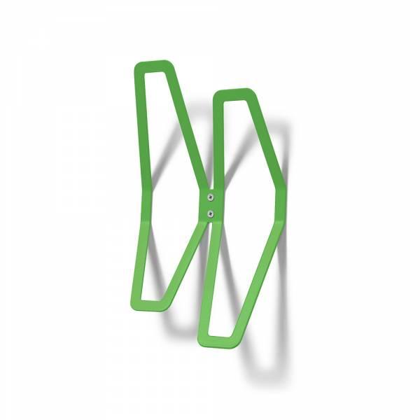 Garderobe Design Wand grün