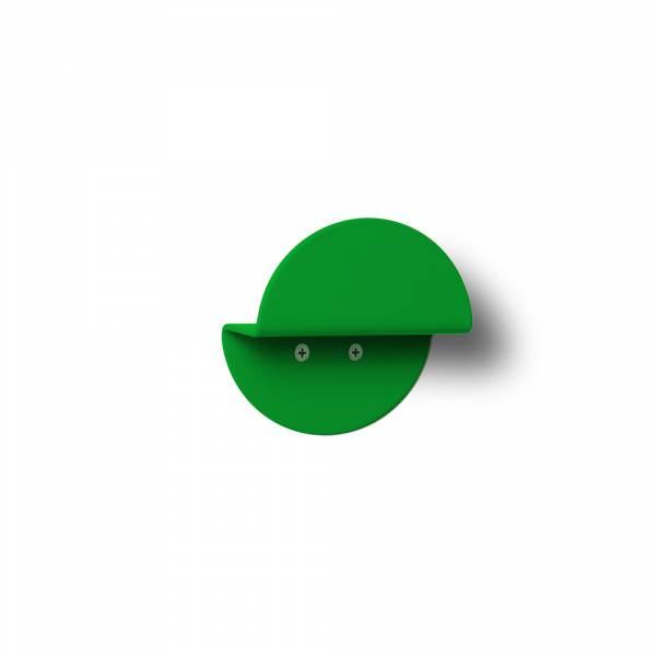 Wandgarderobe rund grün