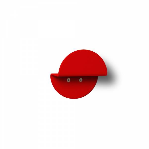 Wandgarderobe rund rot