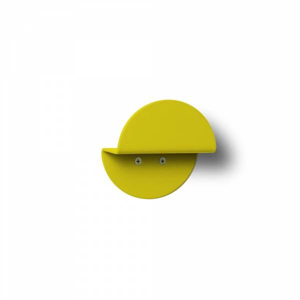 Wandgarderobe rund gelb