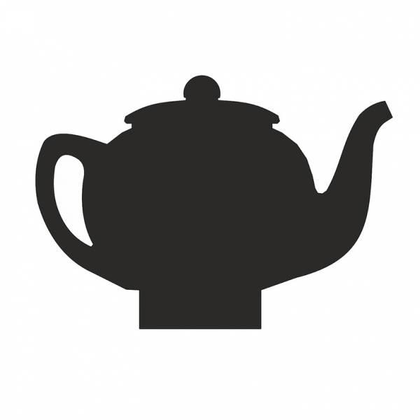 Kreidetafel-Aufsteller Tee Lounge