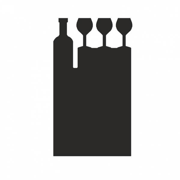 Kreidetafel-Aufsteller Wein Bar