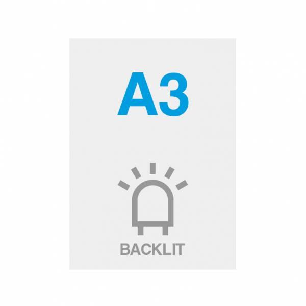 Premium Backlit PP Folie 200g/m2, Satin Oberfläche, A3 (297x420mm)