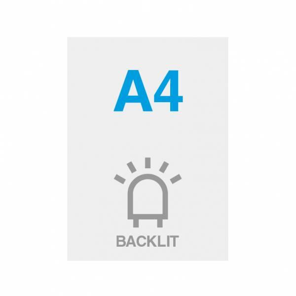 Premium Backlit PP Folie 200g/m2, Satin Oberfläche, A4 (210x297mm)