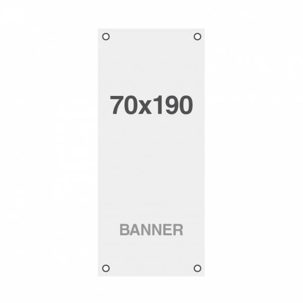 Banner Symbio 510g/m2, 700x1900mm, mit Ösen