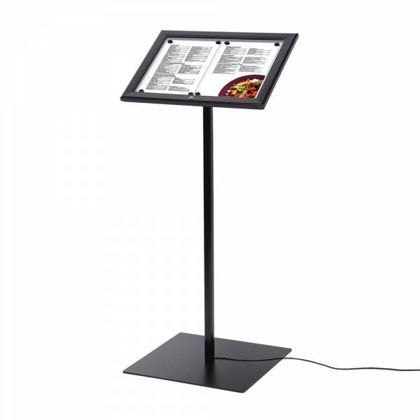 Menükartenhalter Schwarz DIN A4 LED