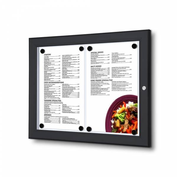 MenüKasten Outdoor Schwarz 2x DIN A4