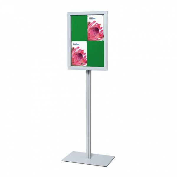 Standgestell für Schaukasten O 4xA4 Filzgrün