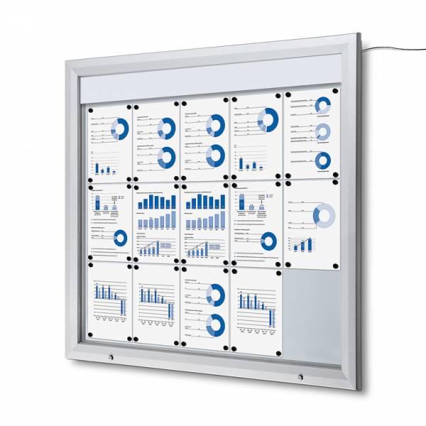Schaukasten Außen Premium 15xA4 LED