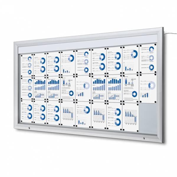 Schaukasten Außen Premium 27xA4 LED