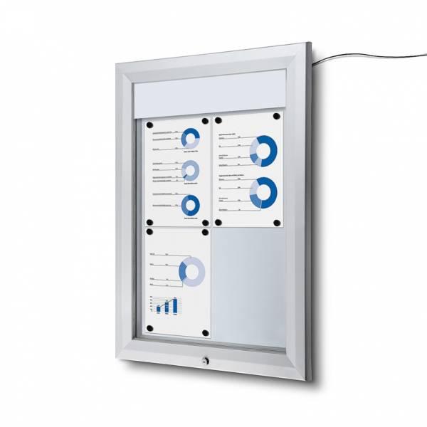 Schaukasten Außen Premium 4xA4 LED