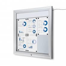 Schaukasten Außen Premium 6xA4 LED