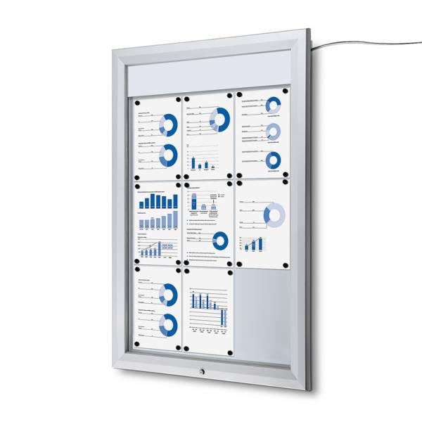 Schaukasten Außen Premium 9xA4 LED