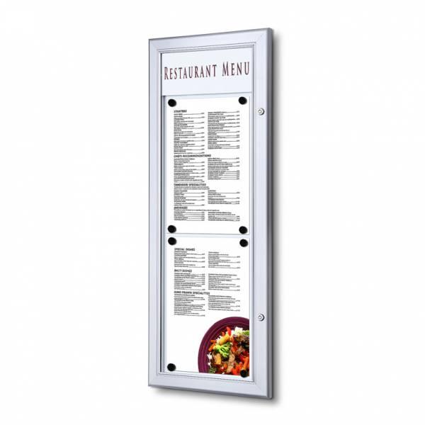 Schaukasten für Speisekarten 2xA4 hoch