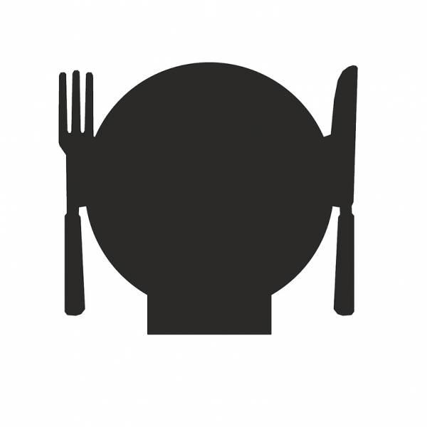 Kreidetafel-Aufsteller Restaurant