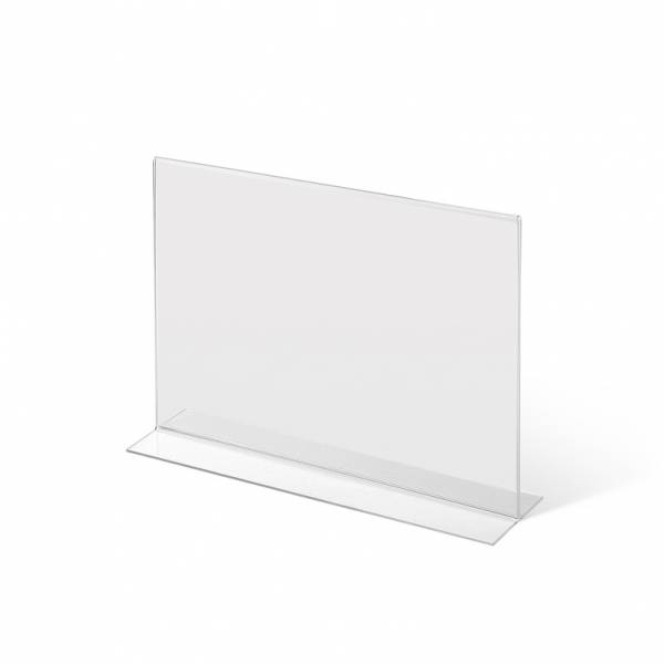 Acrylaufsteller in T-Form DIN A4 quer