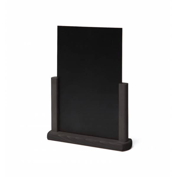 Tischaufsteller Holz, schwarz, DIN A4