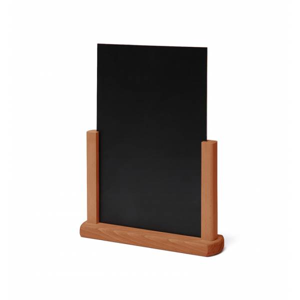 Tischaufsteller Holz, teak, DIN A5