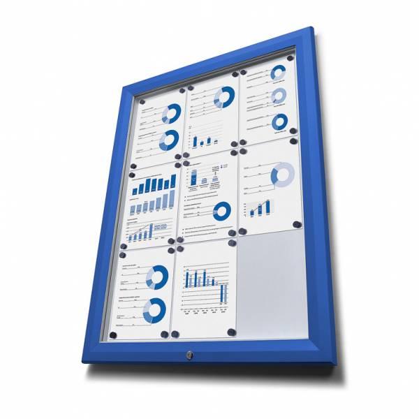 Schaukasten Außen Premium 12xA4 blau