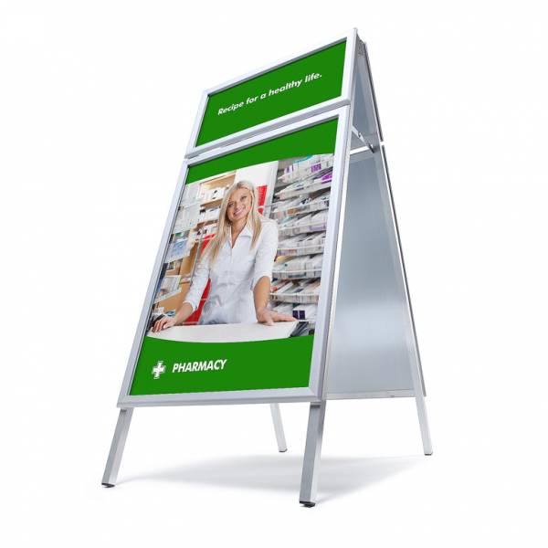 Kundenstopper A1 inkl. Logoplatte (32 mm)