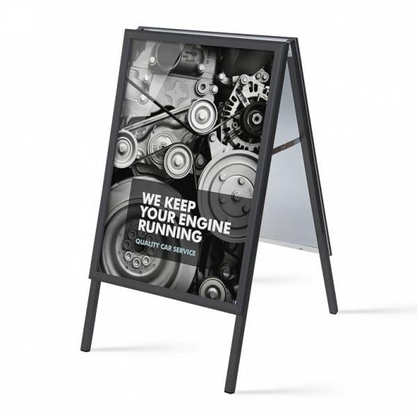 Kundenstopper Standard 32 mm / Gehrung, DIN A1, schwarz