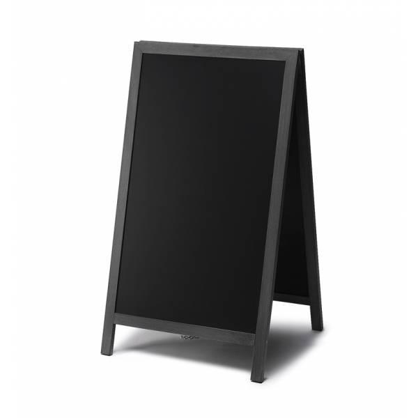 Gehwegtafel Holz, schwarz, 68x120