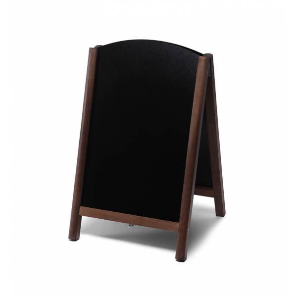 Gehwegtafel Holz, Top, dunkelbraun, 55x85