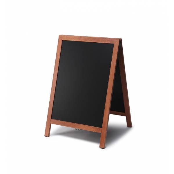 Gehwegtafel Holz, teak, 55x85